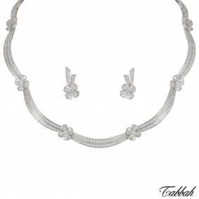 Tabbah White Gold Diamond Jewellery Suite